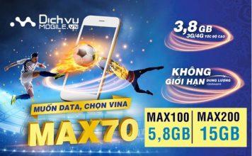 Vinaphone nâng cấp 6 lần ưu đãi các gói MAX giá không đổi